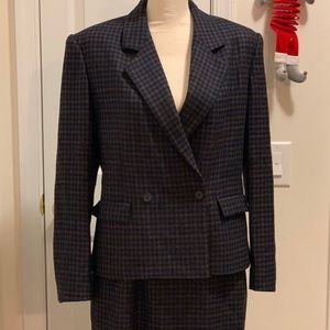 Vintage Jones New York Plaid Skirt Suit